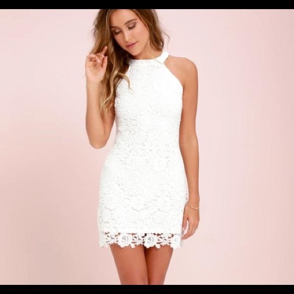 Short White Lace Dress Bridal Shower Bach Party